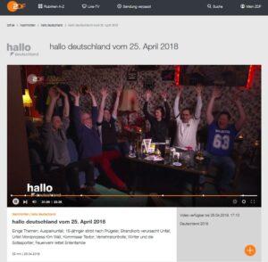 ZDF-Sendung hallo deutschland am 25.04.2018 (hier lokale Version)